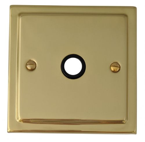 G&H TB79B Trimline Plate Polished Brass 1 Gang Flex Outlet Plate